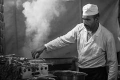 On the grill. Marrakech, Morocco (trickyd3) Tags: marrakech morocco cooking grill kebab medina northafrica chef cook