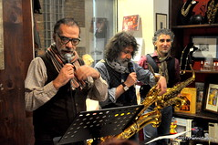 N2122840 (pierino sacchi) Tags: kammerspiel brunocerutti feliceclemente igorpoletti improvvisata jazz letture libreriacardano musica sassofono sax stranoduo
