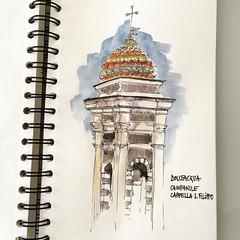 Campanile S. Filippo (matteotarenghi) Tags: ifttt instagram dolceacqua church s filippo matteotarenghi urban sketchers sketch watercolors