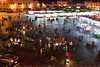 The square fills with dozens of food-stalls (T Ξ Ξ J Ξ) Tags: morocco marrakesh djemaaelfna d750 nikkor teeje nikon2470mmf28 street stalls store night