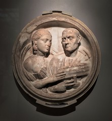 Roundel With Busts Of A Man And A Woman (ArtFan70) Tags: roundelwithbustsofamanandawoman ancientroman ancientrome roman museumoffinearts mfa artmuseum fenwaykenmore fenway boston massachusetts ma newengland unitedstates usa america art sculpture relief bust busts