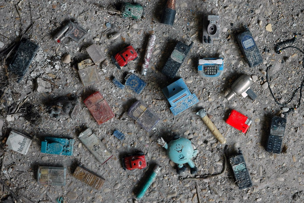 A cigarette lighter collection found inside Ex Mattatoio