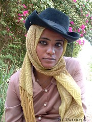-Cowboy- (Vt Hassan) Tags: africa portrait people girl beautiful face look hat scarf eyes sudan theface