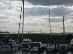 The resundsbron from Malm (chad_k) Tags: bridge sweden malmoe malm malmo oresund oresundbridge resundsbron 100bridges