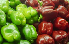 Red and green peppers, Allentown Farmer's Market