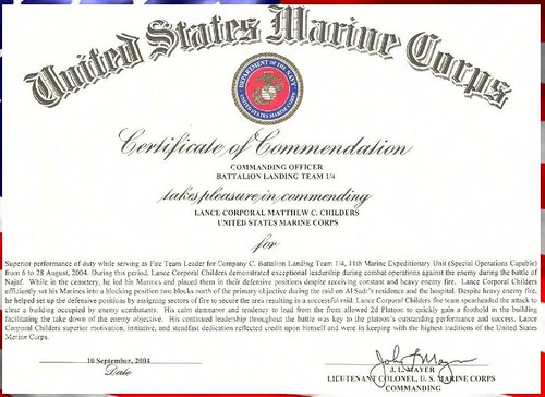 Usmc commendation a photo on flickriver usmc commendation yelopaper Image collections