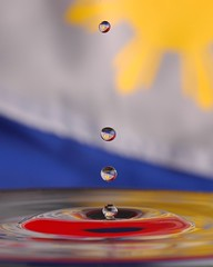 Philippine Flag (BeeBoy) Tags: water horizontal star drops flag philippines independence philippineflag june12 bandila philippineindependence nikonstunninggallery