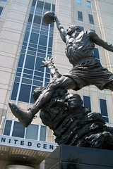 Chicago: United Center - Michael Jordan Statue - by wallyg