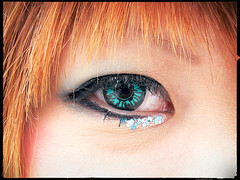 Jade-Visions (Danz in Tokyo) Tags: light people white color green eye face japan dark tokyo eyes topv333 shadows save2 jade harajuku save1 best1 top1 myportfoliobest