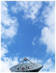 blue sky clouds satellitedish qvc whiteframe
