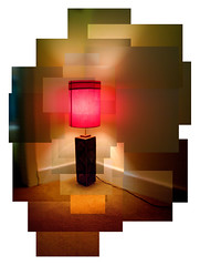 red lamp (thescatteredimage) Tags: red lamp topv111 composite topv333 photomosaic hockney joiner scattered construct 29june06