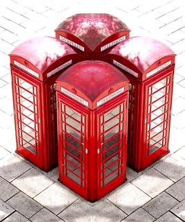 4 x Stafford Phonebox
