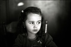 ~ A Pensive Moment (Mackeson) Tags: leica portrait bw film daughters pensive moods ilford mackeson