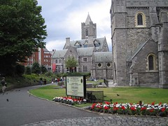 Outside the Christ Church Cathedral