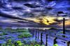Dark Boardwalk (worldwidewandering) Tags: ocean sunset usa sun beach water america d50 rocks 500v20f florida deleteme10 indian united 2006 indianrocksbeach nikond50 states hdr photomatix interestingness30 i500 worldwidewandering
