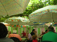 neighborhood restaurant umbrellas