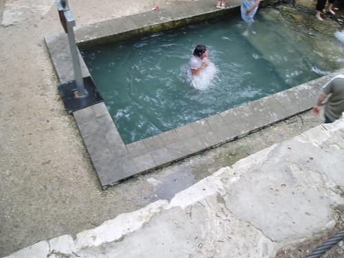 hiking orthodox moldova wettshirt holywater coldwater baptising saharna