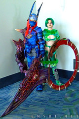 Soul Calibur Cosplay - Nightmare & Tira (orgXIIIorg) Tags: soul calibur soulcalibur souledge edge nightmare tira cosplay anime expo animeexpo 2006 soulcalibur2 soulcalibur3 costume myoubi yui photography costumes costuming convention props weapons handpainted