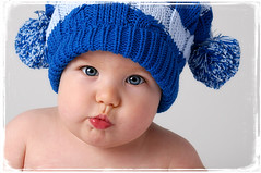pucker. ( ella minnow peas ) Tags: blue boy baby cute hat infant lips pucker cmcaug06
