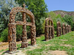 The Stone Crosses of Chimayo (taylorkoa22) Tags: old newmexico church de religious catholic god religion jesus crosses marc nm chimayo sanctuario 1813 marcgutierrez
