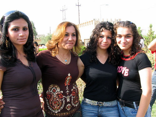 Kurdish Iraqi Girls in tops and jeans
