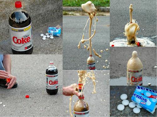 Diet Coke + Mentos = KABOOM!