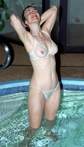 nice bra boobs video in bras pics: lingerie, bikini, wife, womeninbras, sheer, wet, sexy, pool