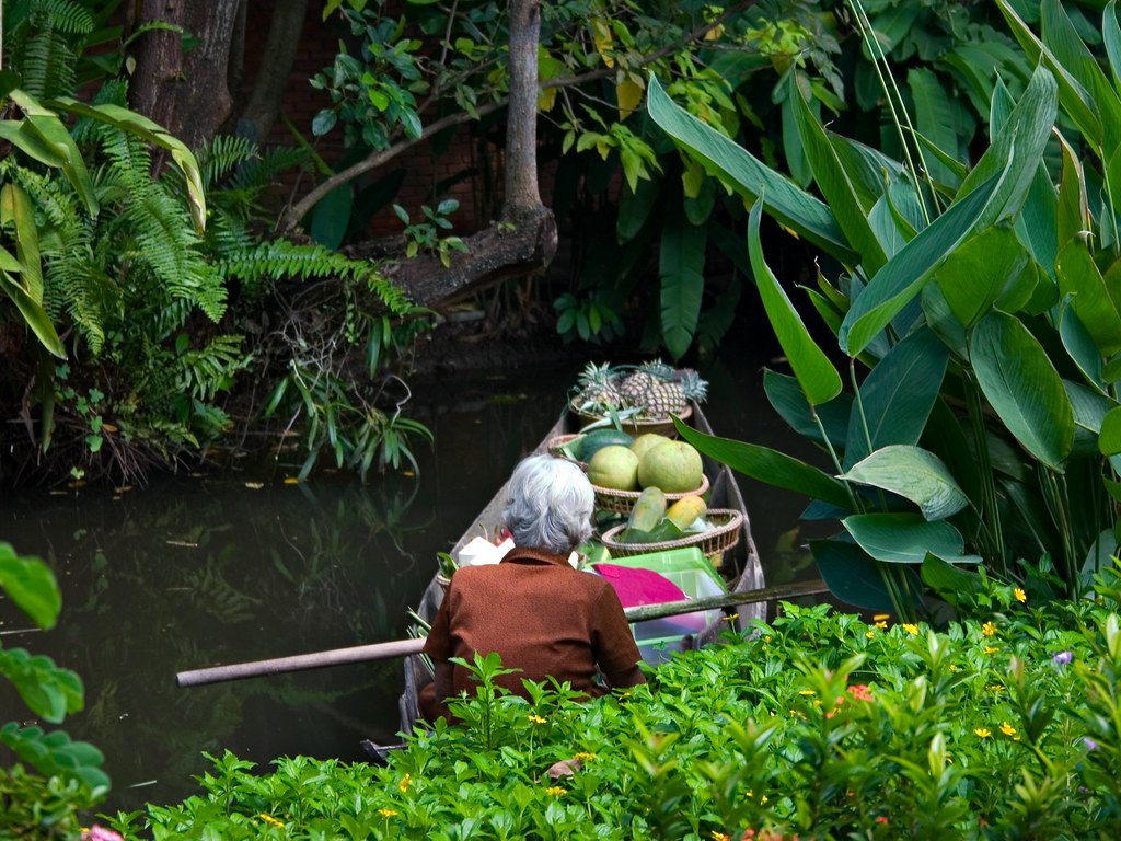 Merchant at floating market
