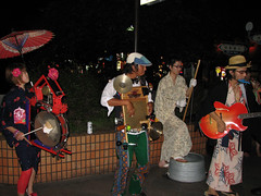 Kiyamachi Jugband (MShades) Tags: music station japan kyoto band buskers busking jugband kiyamachi