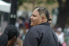 Conservative Hair Cut (cwgoodroe) Tags: sf sanfrancisco people face up hair interesting punk close faces action candid 2006 telephoto human mohawk jazzfest hairstyle sfchronicle facesinthecrowd sfjazzfest 96hrs sfchronicle96hours sfchronicle96hrs intreaguing schronicle96hrs