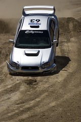 Subaru Rally Car at X Games XII (josiahgordon) Tags: 20d sports canon losangeles telephoto extremesports espn xgames homedepotcenter 200mmf28l xgames12 expn