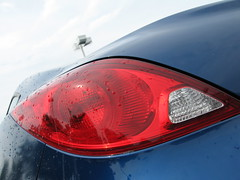 Pontiac G6 Coupe (Mazda6 (Tor)) Tags: blue rain raindrops pontiac guessed g6 coupe taillight