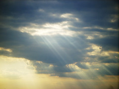 Angels Smiling from Above (angiebaby1622) Tags: sky sun clouds rays