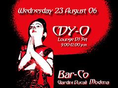 Bar-co DJ Set 23 August 06 Modena (Claudy-o Graphics, Photos & Videos) Tags: music poster disco flyer dj barco august 2006 claudyo djset diskjockey august2006 cdyo