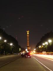 Siegessule bei Nacht (Maklaklick) Tags: berlin tiergarten siegessule 17juni