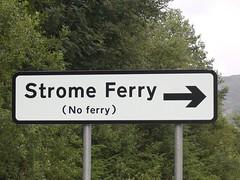 No Ferry (brucew_o) Tags: 15fav ferry scotland roadsign stromeferry noferry