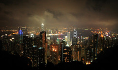 Hong Kong at Night (` Toshio ') Tags: china architecture night buildings hongkong lights harbor asia cityscape peak hong kong straight hongkongisland victorias victoriaspeak toshio totalexposure