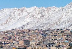 Landscape of Kurdistan Iraq (Chris Kutschera) Tags: mountain snow building town iraq middleeast kurdistan irak dohok