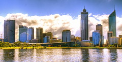 Rolling Clouds (rich115) Tags: river cityscape perth hdr swanriver southperth 3xp photomatix tonemapped