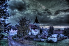 Stare Misto church (Stevacek) Tags: sky church clouds d50 nikon hdr jicin staremisto leggnetch1