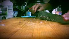 Chop, Chop! (MacroMarcie) Tags: wusthof 10inch chefsknife knive kitchen gadgets 365 project365 macromarcie selfie