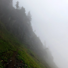 HighPassHike (Aubrey Sun) Tags: mountain water fog washington high north lakes pass twin hike cascades wa winchester
