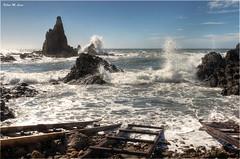 Arrecife de las Sirenas (Cabo de Gata - Almera) (Jose Manuel Cano) Tags: sea espaa costa rock landscape mar spain oleaje paisaje almera cabodegata roca arrecife sirenas lassirenas nikond5100 thefourbasicelements