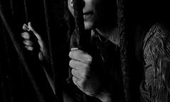Flashback (gramstien) Tags: old school shadow black history girl monochrome mystery contrast project dark lyrics model hands remember quote feel sydney like gone nails jail opaque mywork emotional too grip amateur bnw soon gaol edit excursion prisoner mental meaningful cockatooisland newphotographer