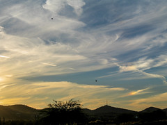 Two Hot Air Ballons in the Phoenix Sunset (randyherring) Tags: winter arizona mountains phoenix sunsets az