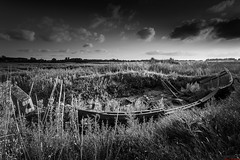 Abandoned... (aljones27) Tags: old blackandwhite bw monochrome coast boat decay norfolk derelict decaying thornham 09hardgrad 06hardgrad