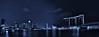 Nigh time skyline of Singapore (Rupam Das) Tags: longexposure panorama reflection water skyline night buildings nikon outdoor nikkor 2470mm d810 singaporeflyer marinabaysands flickraward5 artsandsciencemuseum