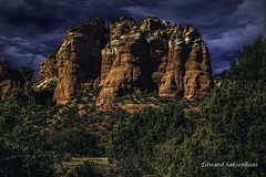 monsoon in Sedona (Edward Saksenhaus RPh.) Tags: red arizona mountains sedona redrocks monsson