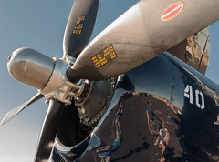 Helldiver (Wolfy) Tags: blue summer usa detail metal closeup oregon word landscape outdoors daylight us symbol aircraft military air unitedstatesofamerica gray stranger number airshow entertainment transportation freezeframe northamerica beast lettering insignia bomber propeller hillsboro greys unitedstatesnavy divebomber closeupview carrieroperations hillsboroairport curtisswright horizontalorientation bigtailedbeast sonofabitch2ndclass transportationcomponents twocee hillsboroairshow19july2015 sb2c3helldiver eventattendeeorworker