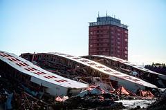 among the fallen (D Cation) Tags: scotland glasgow explosion demolition collapse dust gha redroadflats balornock safedem